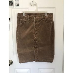 Light brown corduroy skirt